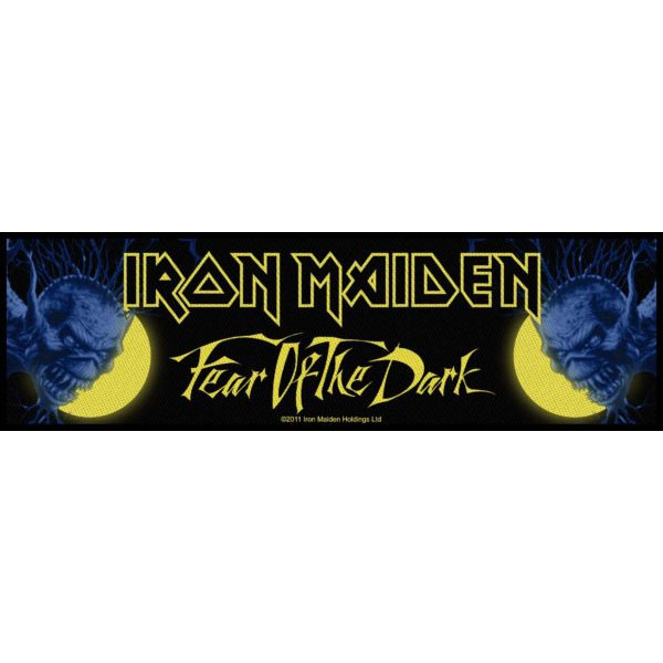 Iron Maiden- Fear Of The Dark Woven Superstrip Patch (ep843)