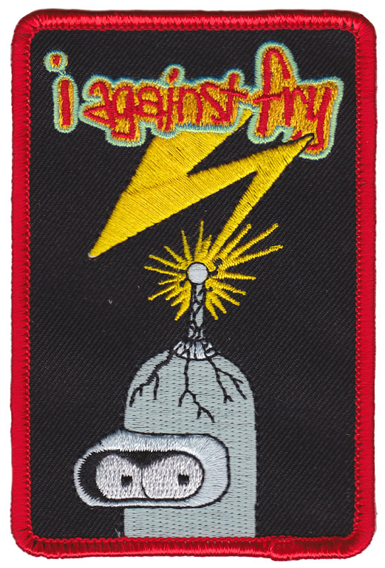 I Against Fry Embroidered Patch by Thrillhaus (ep642)
