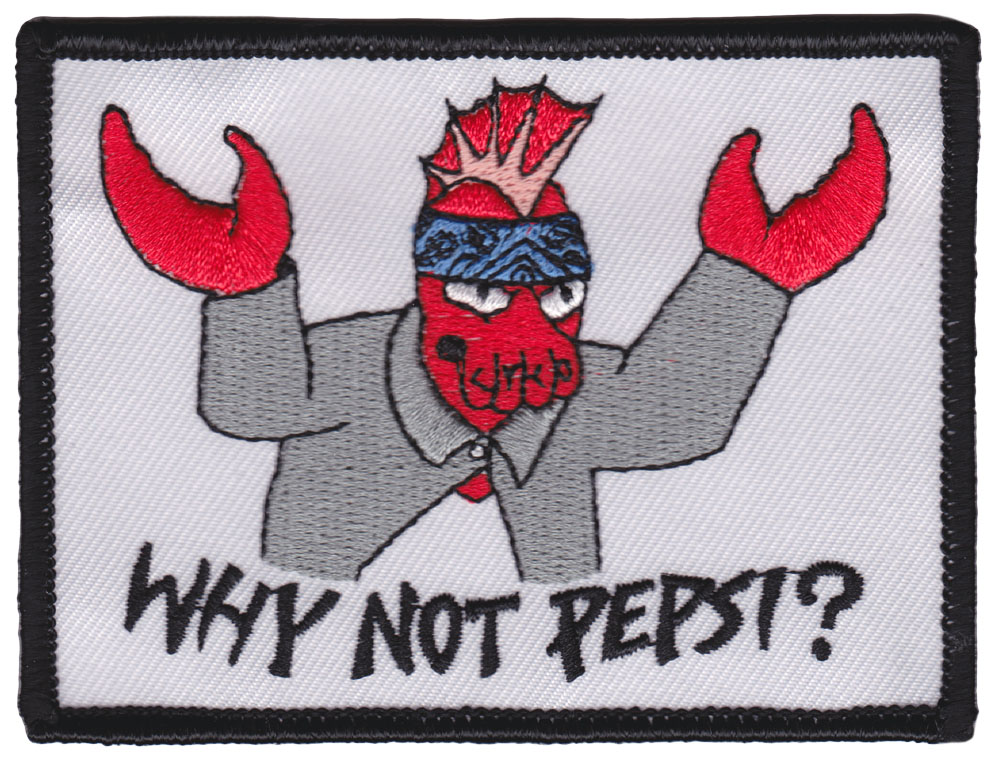 Zoidberg Why Not Pepsi? Embroidered Patch by Thrillhaus (ep721)