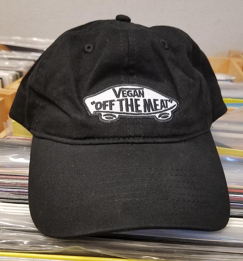 Vegan Off The Meat Hat by Bort's Pin Emporium - on black