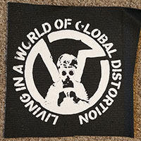 Virus- Living In A World Of Global Distortion cloth patch (cp121)