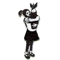 Banksy Bomb Girl Embroidered Patch