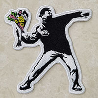 Banksy Molotov Flowers Embroidered Patch
