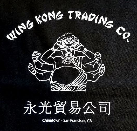Big Trouble In Little China- Wing Kong Trading on a black shirt