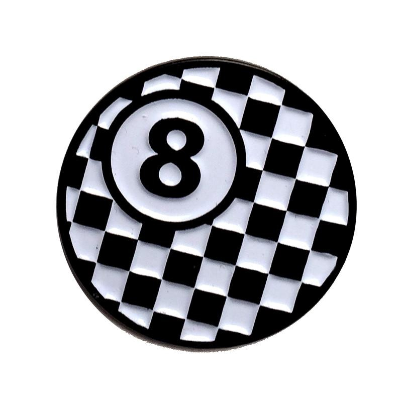 8 Ball Enamel Pin by Scumbags & Superstars (mp243)