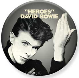 David Bowie- Heroes pin (pinX442)