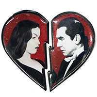 Bela Loves Vampira Broken Heart Pin Set from Kreepsville (MP374)