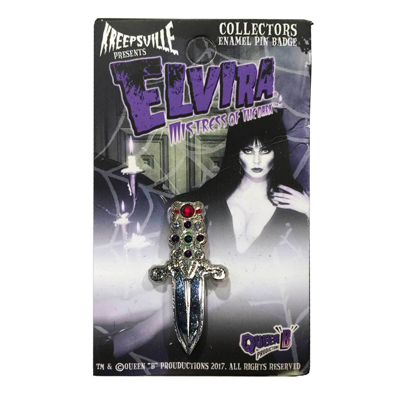 Elvira Dagger Enamel Pin by Kreepsville 666 (MP140)