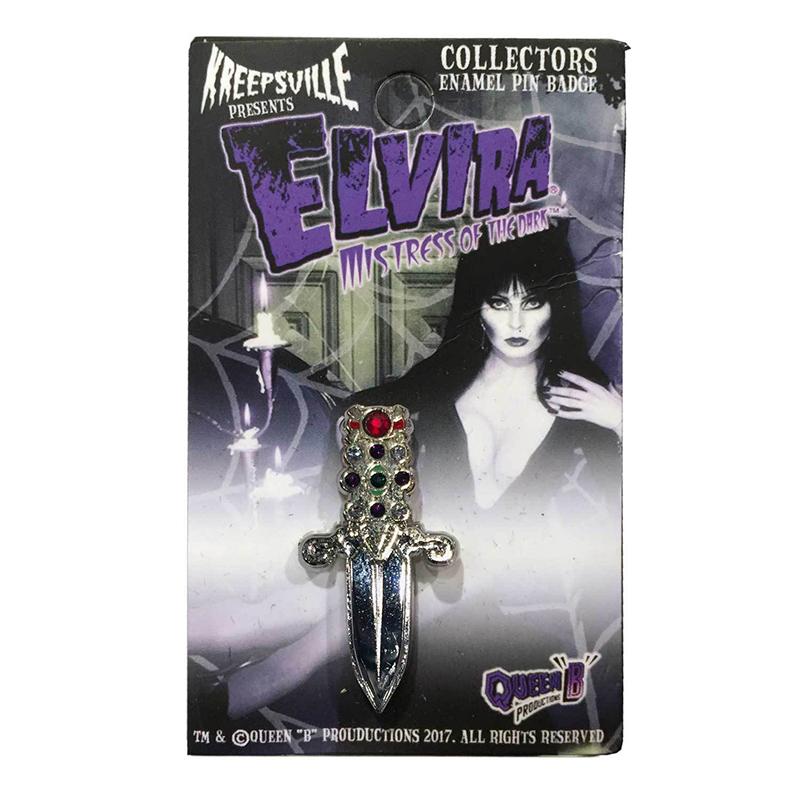 Elvira Dagger Enamel Pin by Kreepsville 666 (MP140)