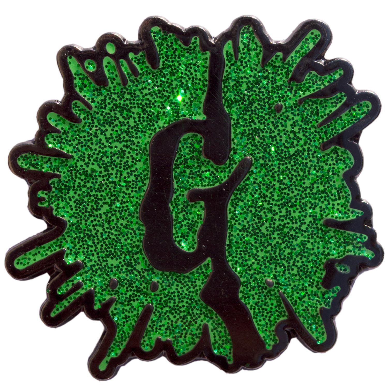 Goosebumps Enamel Pin by Kreepsville 666 - Green Glitter Splat Logo (MP117)