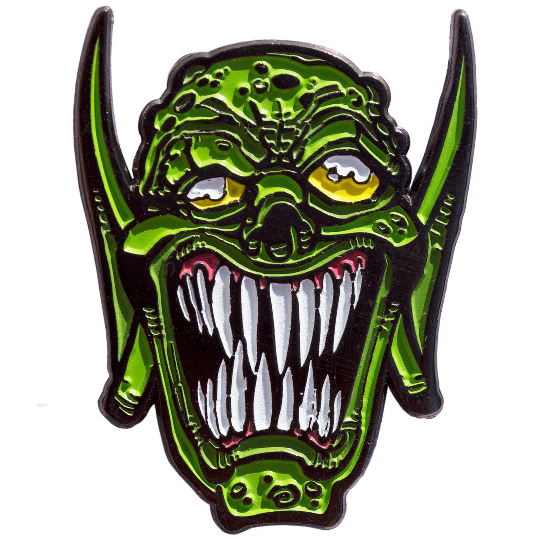 Goosebumps Enamel Pin by Kreepsville 666 - Glow in the Dark Haunted Mask (MP115)
