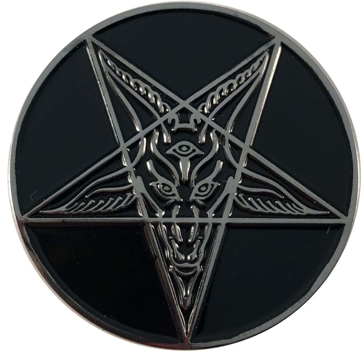 Goat Baphomet Enamel Pin Badge by Kreepsville 666 (MP208)