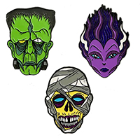 Allan Graves Enamel Pin Set #1 by Kreepsville 666 - Set of 3 (MP410)