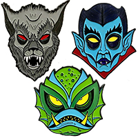 Allan Graves Enamel Pin Set #2 by Kreepsville 666 - Set of 3 (MP411)