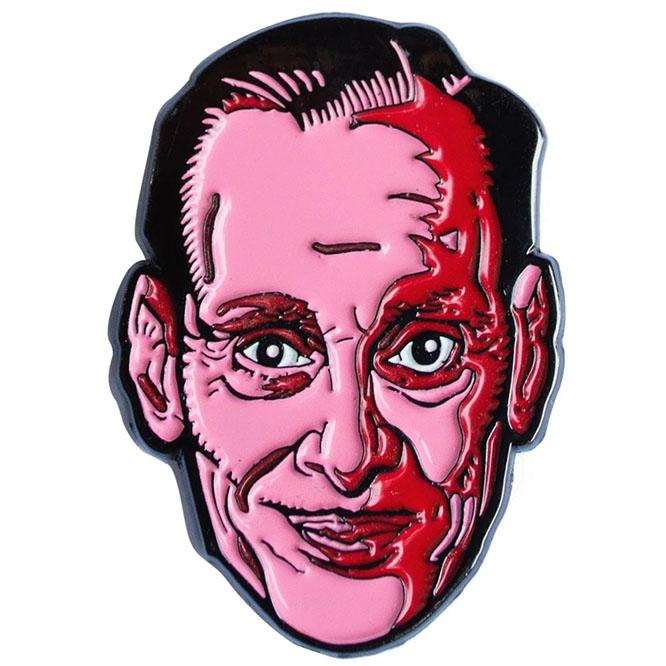 John Waters Pink Face Enamel Pin by Kreepsville 666
