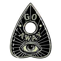 Go Away -Glow in the Dark Planchette Enamel Pin by Kreepsville 666 (mp400)
