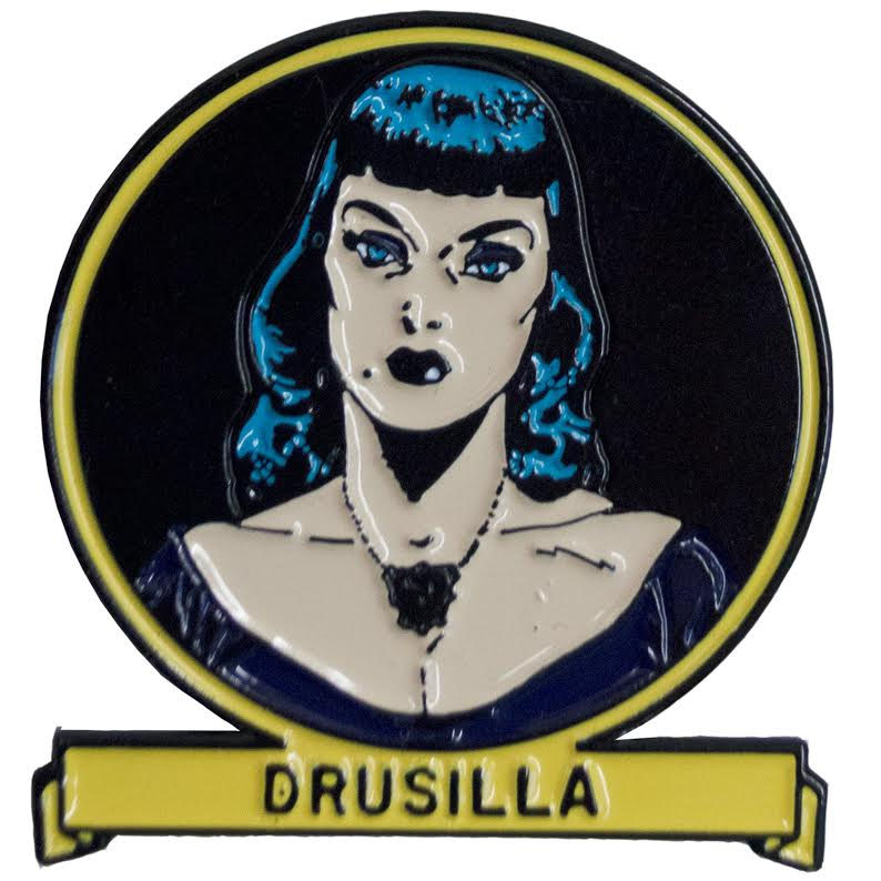 Tales From the Crypt Enamel Pin by Kreepsville 666 - Drusilla (MP111)