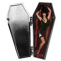 Elvria Open Coffin Pin from Kreepsville (MP417)