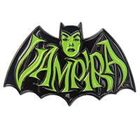 Large Vampira Retro Green Bat Enamel Pin from Kreepsville - limited edition (MP414)