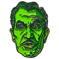 Vincent Price Classic Face Green Ghoul Pin by Kreepsville 666 (MP365)