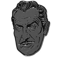 Vincent Price XL Silver Suave Pin by Kreepsville 666 (MP364)