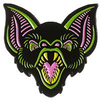Enamel Ghoul Trobule Bat Trouble Pin by Sourpuss (MP285)