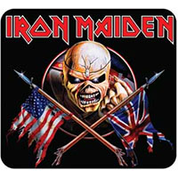 Iron Maiden- Crossed Flags Stick Back Pin (MP311)
