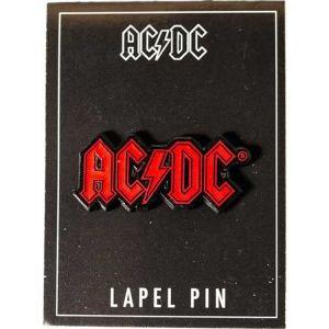 AC/DC- Red Logo Stick Back Enamel Pin (MP228)