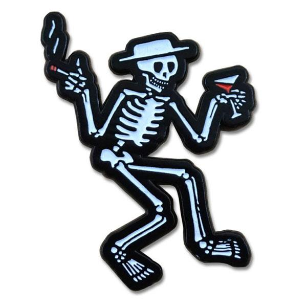 Social Distortion- Skeleton Stick Back Pin (MP221)