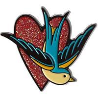 Sparrow Heart Enamel Pin by Sourpuss (mp378)