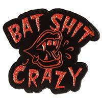 Bat Shit Crazy Enamel Pin by Sourpuss (mp385)