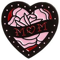 Mom Heart Enamel Pin by Sourpuss (mp383)