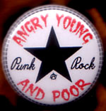 Angry Young And Poor- Star Logo pin (pinZ16)