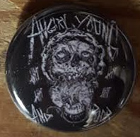 Angry Young And Poor- 20th Anniversary Skull pin (pinZ13)