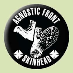 Agnostic Front- Skinhead pin (pinX458)