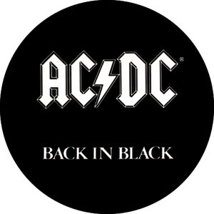 AC/DC- Back In Black pin (pinX229)