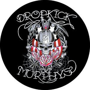 Dropkick Murphys- Skull & Roses pin (pinX340)
