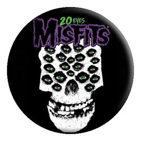 Misfits- 20 Eyes pin (pinX433)
