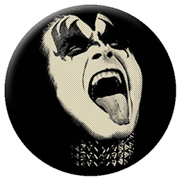 Kiss- B/W Gene pin (pinX510)