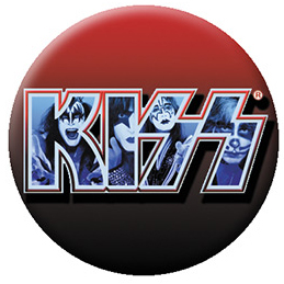 Kiss- Logo With band Pic pin (pinX512)