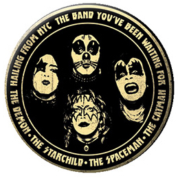 Kiss- Hailing From NYC pin (pinX514)