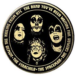 Kiss- Hailing From NYC pin (pinX514)