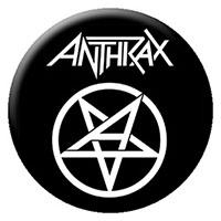 Anthrax- Pentagram (White) pin (pinX264)