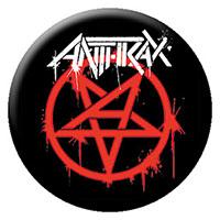 Anthrax- Pentagram (Red) pin (pinX265)