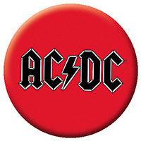 AC/DC- Logo On Red pin (pinX14)