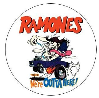 Ramones- We're Outta Here pin (pinX102)