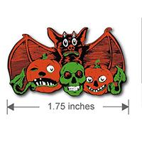 Vintage Halloween Bat Attack Enamel Pin - by Macabre Manor (MP252)