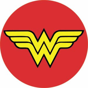 "DC Comics- Wonder Woman Symbol 3"" pin"