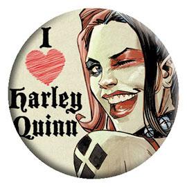 DC Comics- I Love Harley Quinn pin (pinX313)