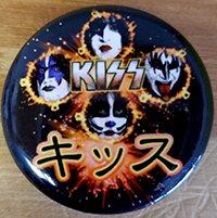 Kiss- Japanese pin (pinx524)
